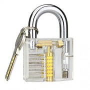 Banwen Professional Practice Lock, Transparent Cutaway Practice Tools for Loc...