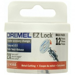 Dremel EZ456B 1 1/2-Inch EZ Lock Rotary Tool Cut-Off Wheels For Metal - 12 pi...