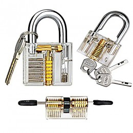 Kuject 3 in 1 Practice Lock Set, Transparent Cutaway Practice Tools for Locks...