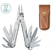 Leatherman 832560 Rebar Heritage Multi-Tool Stainless Steel with Leather Sheath