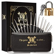 Mr. Sherlock Tool Set with Transparent Practice Lock | Secret Book Style Demo...
