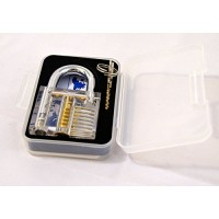 Practice Lock Set, Transparent Cutaway Crystal Pin Tumbler Keyed Padlock, Loc...