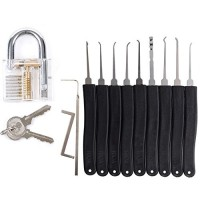 11 Piece Practice Lock Set Unlocking Lock Pick Set