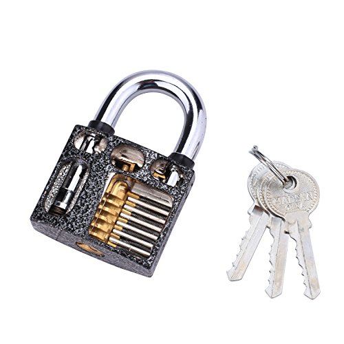 TAYTHI Professional Cutaway Inside View of Practice Padlocks Lock Training Tr...